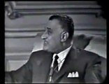 Gamal Abdel Nasser 1969 New York interview in English.