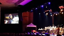 Aretha Franklin Orch. Ravinia July 11 2015, Kalyan Pathak on RnB percussion taking a solo