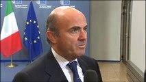 Declaraciones del ministro de Economía Luis de Guindos. Eurogrupo, Bruselas 8/12/2014