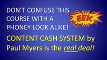 Content Cash System | Article Syndication With the Content Cash System