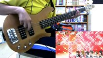 Glasslip ED「Toumei na Sekai」Bass Cover