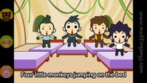 Muffin Songs   Five Little Monkeys  nursery rhymes & children songs with lyrics  muffin songs