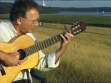 ELBE RIVER ,ROMANZE AM ELBDEICH ,nylon string acoustic guitar,Hamburg