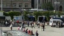 Lausanne - Riponne - Opération police à Lausanne (21.09.2012) TJ du soir à 19:30 RTS1 (TSR1).AVI