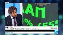 Grèce : la bourse d'Athènes rouvre dans le rouge après 5 semaines de fermeture