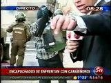 Barricadas y enfrentamientos en la UTEM (11/AGO/2011)