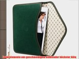 Bouletta Envelope Gr?n Apple iPad Air H?lle iPad 5 Leder Canvas Tasche Book Case Cover Sleeve