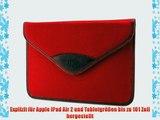 Bouletta Envelope Rot Apple iPad Air 2 H?lle iPad 6 Leder Canvas Tasche Book Case Cover Sleeve