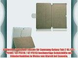 Exklusive Echt Leder Tasche f?r Samsung Galaxy Tab 2 10.1 GT-P5100 / GT-P5110 / GT-P5113 hochwertige