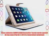 JAMMYLIZARD | BLAU 360 Grad Rotierende Ledertasche Smart Case f?r das iPad Air 2 2014 (6. Generation)
