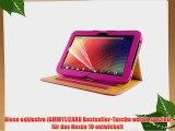 JAMMYLIZARD | Smart Case Ledertasche f?r Nexus 10 ROSA