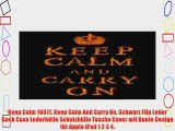 Keep Calm 10017 Keep Calm And Carry On Schwarz Flip Leder Back Case Lederh?lle Schutzh?lle