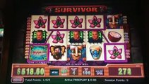 ∆∆ $500 DOUBLE/NOTHING HIGH-LIMIT Slot Machine: SURVIVOR! (w/ SDGuy, DProxima, Diana)