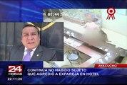 Ayacucho: continúa no habido sujeto que agredió a expareja en hotel