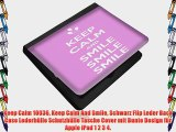 Keep Calm 10036 Keep Calm And Smile Schwarz Flip Leder Back Case Lederh?lle Schutzh?lle Tasche