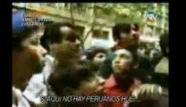 Chilenos insultando a un Peruano en Santiago de Chile (vallan se de nuestro pais)