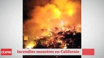D'énormes incendies ravagent la Californie