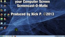 How to Record your computer Screen!!!! Windows 7 & Windows 8 - HD - Free & Easy- Screencast-O-Matic