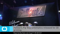 Fallout 4 Pip-Boy Schematics Released for 3D Printing