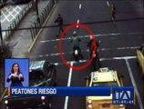 Conductores imprudentes ponen en riesgo a los peatones