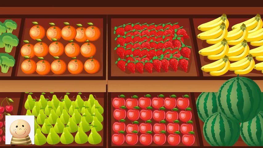 PIOSENKA- Jabłka Arbuzy Czereśnie Pomarańcze- Jedz Zdrowo - Baw się z nami