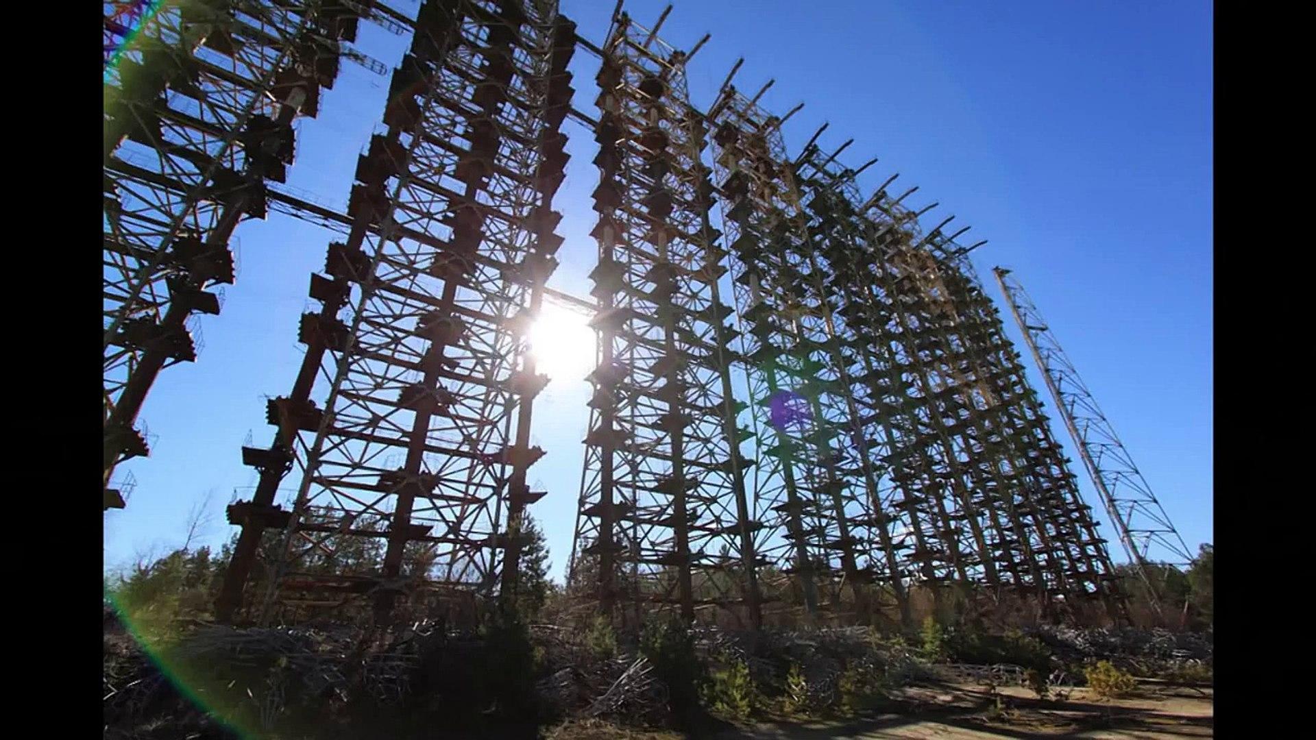 Chernobyl Exclusion Zone. Several views at Chernobyl-2 OTH Radar. Вид на  ЗГРЛС Чернобыль-2