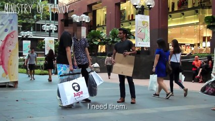 Would people swap branded shopping bags with a paper bag?