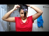Hair styles - Messy 5 minutes updo (Prom/Homecoming/ Wedding bridal updo)
