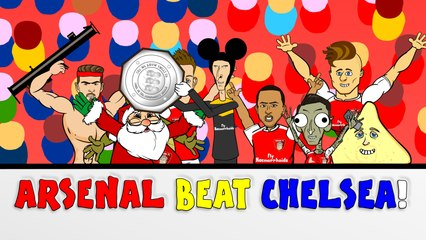 Wenger BEATS Mourinho!  Arsenal vs Chelsea 1-0 Community Shield 2015 CARTOON!!!!