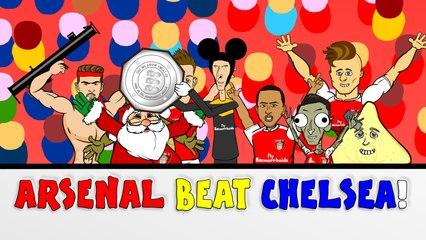 Wenger BEATS Mourinho!  Arsenal vs Chelsea 1-0 Community Shield 2015 CARTOON!!!!