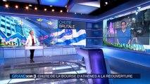 Grèce : la Bourse d'Athènes enregistre une chute historique