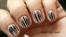 Short Nails Tutorial |  Nail Art Design For Very Short Nails