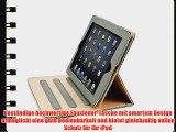 JAMMYLIZARD | Ledertasche Smart Case f?r iPad Air 2 2014 (6. Generation) GRAU