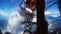 Riding on water  Watch daredevil stunt rider SURF waves on his dirtbike (HD)