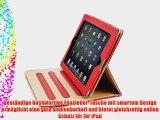 JAMMYLIZARD | Ledertasche Smart Case f?r iPad Air 2 2014 (6. Generation) ROT