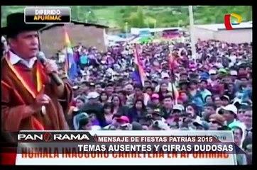 Mensaje de Fiestas Patrias 2015: temas ausentes y cifras dudosas