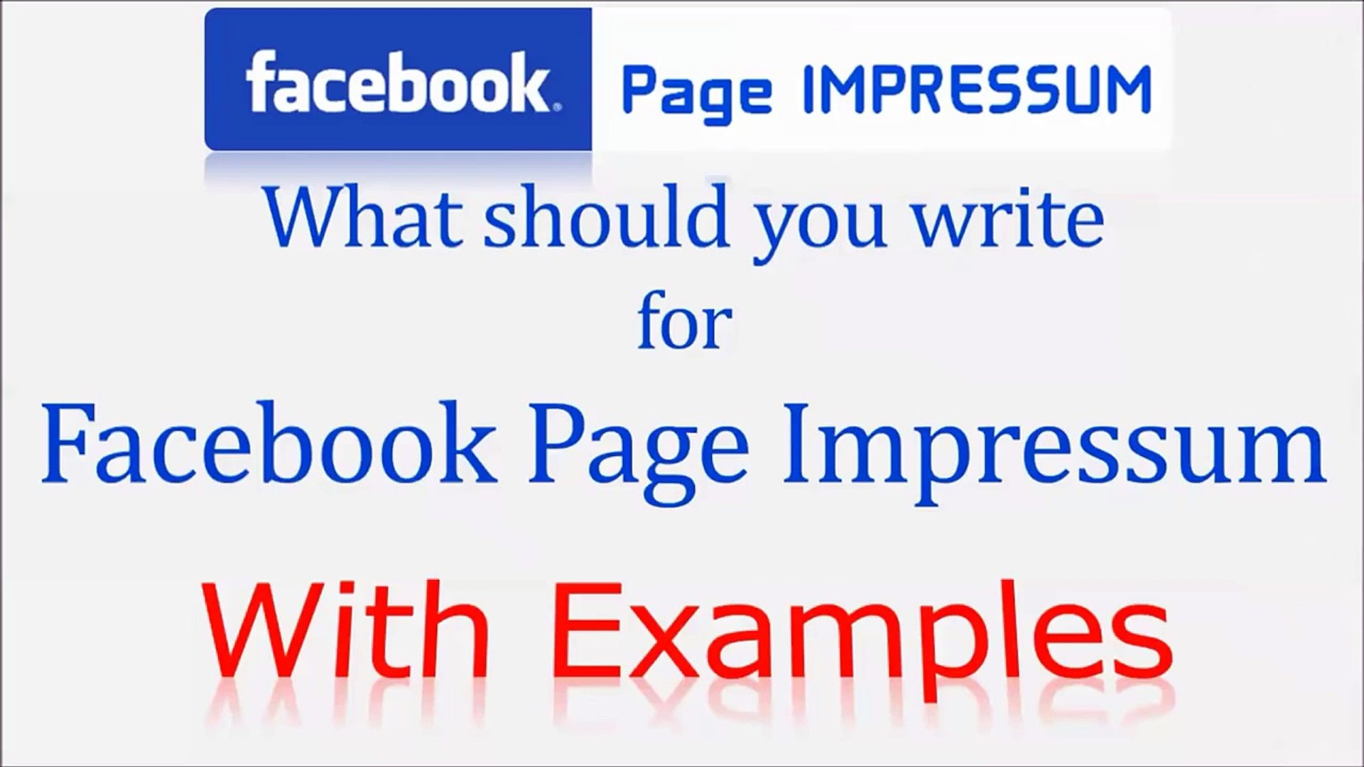 facebook impressum what should you write with examples Impressum Website impressum meaning what is impressum