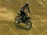 Moto sauts périlleux cross (respect!)