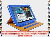 JAMMYLIZARD   Smart Case Ledertasche f?r Samsung Galaxy Tab 2 10.1 BLUE