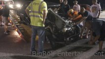 Accident de voiture pendant une course de Dragster - 6 tonneaux