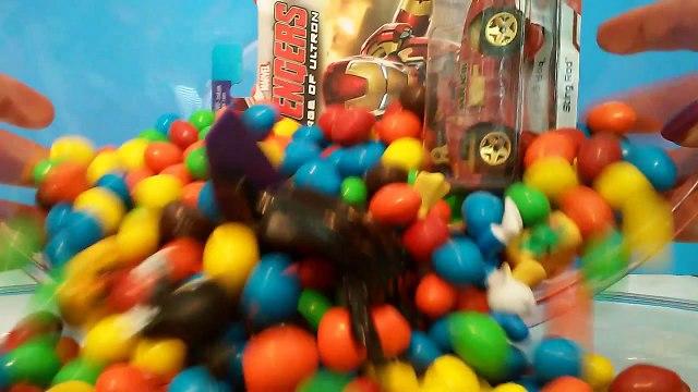 M&Ms Hidden Toy Surprises Ice Age Avengers Shopkins