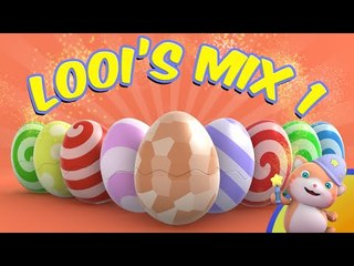 Learn English with Looi the Cat Surprise Eggs | Looi's Mix Compilation