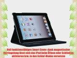 JAMMYLIZARD | SCHWARZ 360 Grad rotierende Ledertasche Smart Case H?lle f?r das iPad 4 (mit
