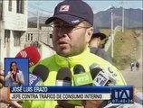 Dos personas fueron detenidas en Quito con paquetes de marihuana valorados en 10 mil dólares