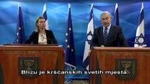 PM Netanyahu meets Federica Mogherini-Croatian