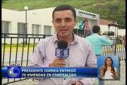 Presidente Correa entregó 70 viviendas en Esmeraldas