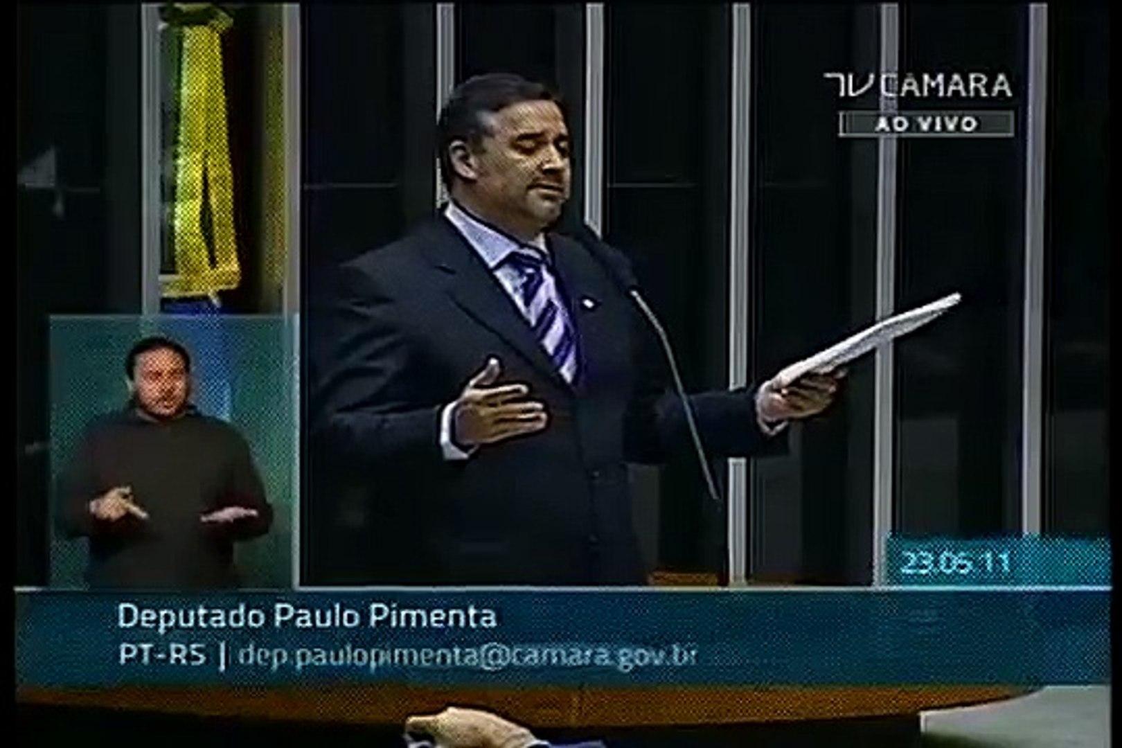 Paulo Pimenta - Projeto de Lei nº 5.159, trata do Quadro Especial do Exército Brasileiro 2/2