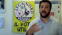 Matteo Salvini presenta l'iniziativa della Lega Nord contro immigrazione clandestina.