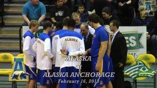 Alaska Men s Basketball UAA Highlights 2 16 13