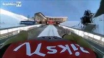 Helmet cam ski jump
